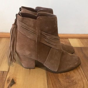 Barely worn Fringed Booties